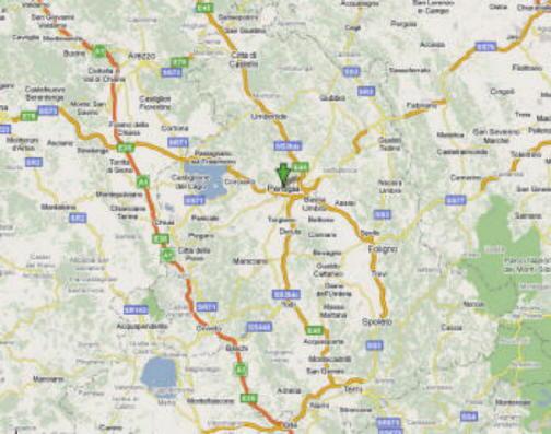 Mappa della provincia di Perugia