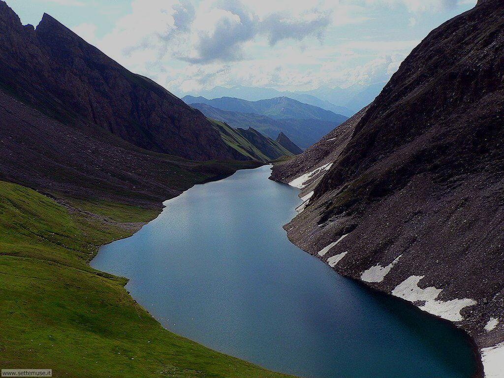 Lago Liconi vicino al Monte Bianco