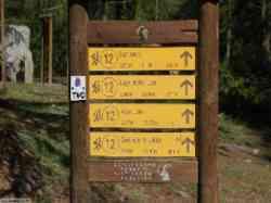 Indicazione dei sentieri