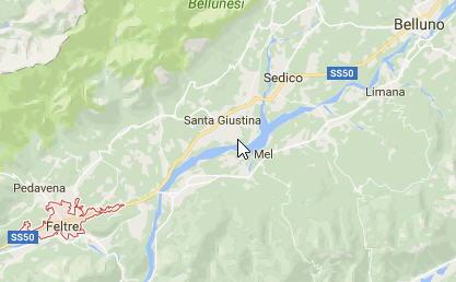 Mappa di Feltre