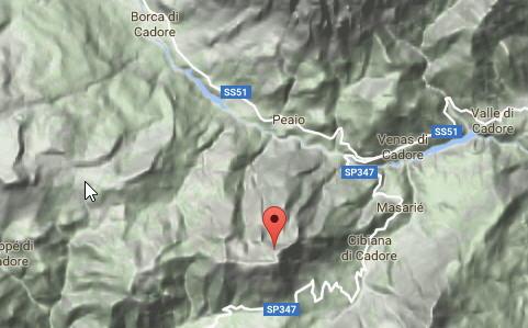 Mappa di Monte Rite