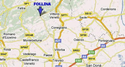 Mappa di Follina