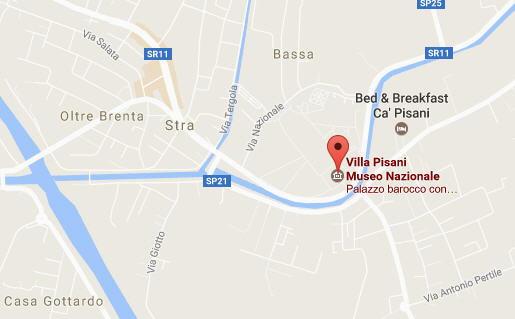 Mappa di Villa Pisana - Strà