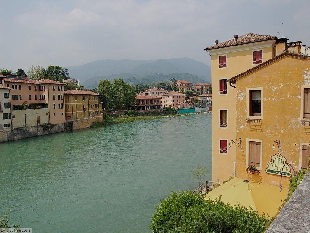 Il fiume Brenta a Bassano del Grappa