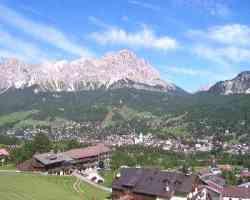 Panorama di Cortina D'Ampezzo