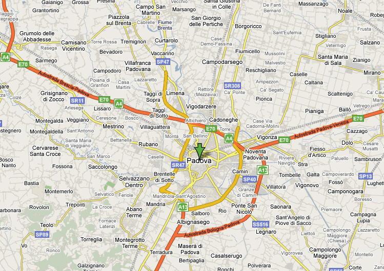 Padova mappa provincia guida e foto - Mobilifici padova e provincia ...