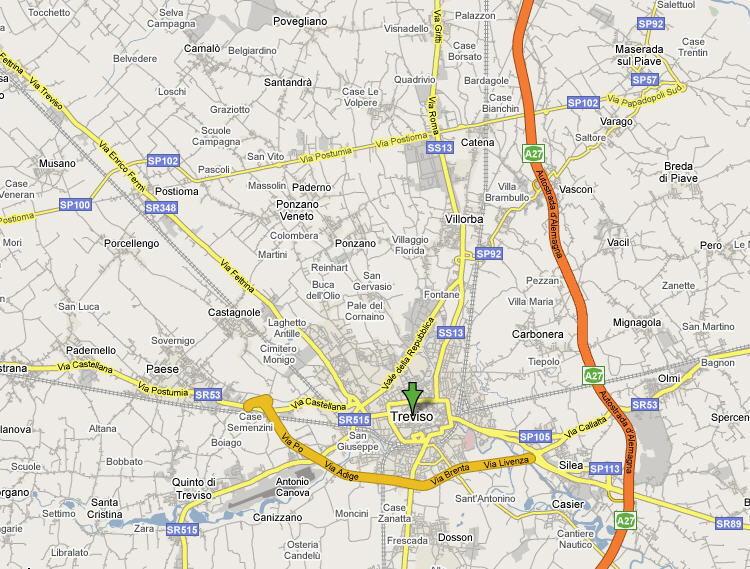 Mappa Provincia di Treviso