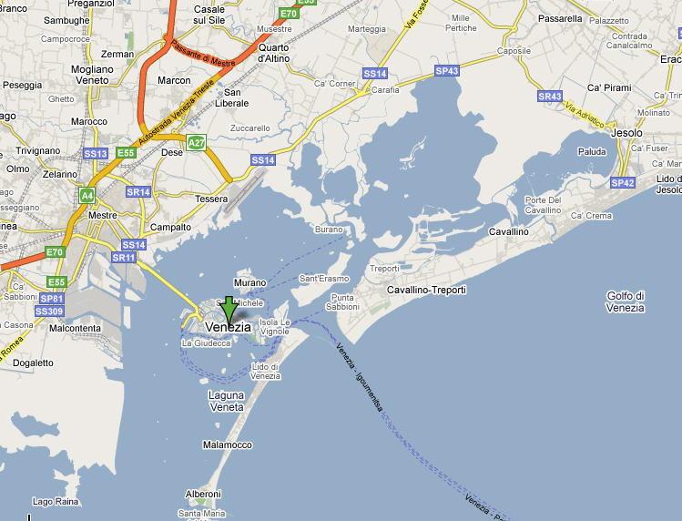 Mappa Provincia di Venezia