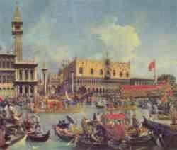 Venezia - Festa della Sensa dipinta dal Canaletto