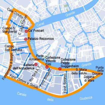 venezia sestiere dorsoduro mappa