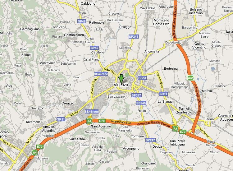 Mappa Provincia di Vicenza