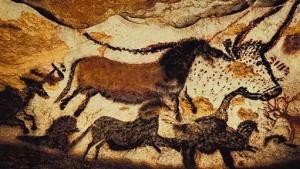 Pittura in grotta 15.000-10.000 a.C. Lascaux, Francia