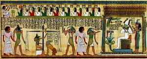 Particolare del Libro dei morti dello Scriba Hunefer, papiro della XI dinastia, British Museum di Londra