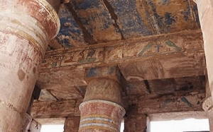 Colori originali nel Tempio di Tuthmosis III - Karnak