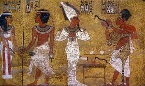 Nut saluta Tutankhamon