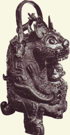 Vaso zoomorfo, dinastia Shang