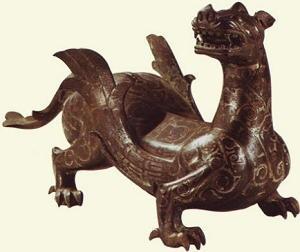 Mostro alato in bronzo, dalla tomba del Re Zhongshan, 4000 a.C.