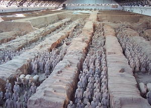 Esercito in terracotta -panoramica-