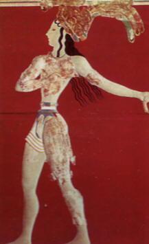 Principe dei gigli - intonaco dipinto - palazzo di Cnosso - Museo Archeologico, Heraklion, Creta