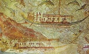 Particolare del fregio Casa Ovest (1550 a.C.)