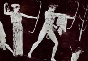 Apollo e Artemide con archi e frecce