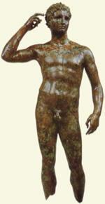 Atleta incoronato,bronzo ritrovato sul fondo del mare Adriatico