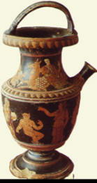 Situla (vaso) con figura rossa