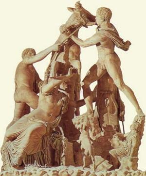 Il tormento di Dirce (frammenti di copia romana)