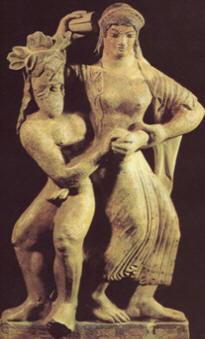 Sileno e Menade in danza