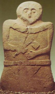 Macio in una stele funeraria