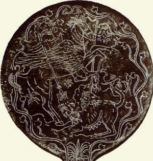 Bellerofonte su Pegaso sconfigge la Chimera