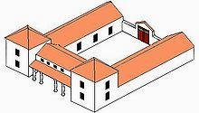 Schema di villa romana rurale
