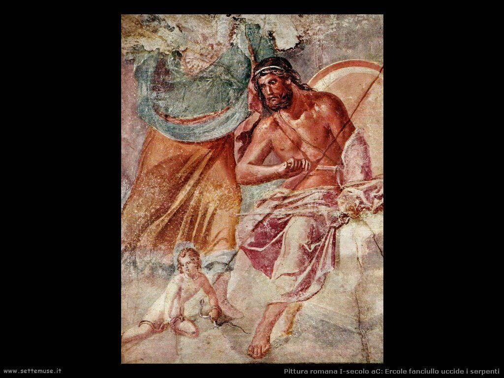 arte impero romano ercole fanciullo uccide serpenti