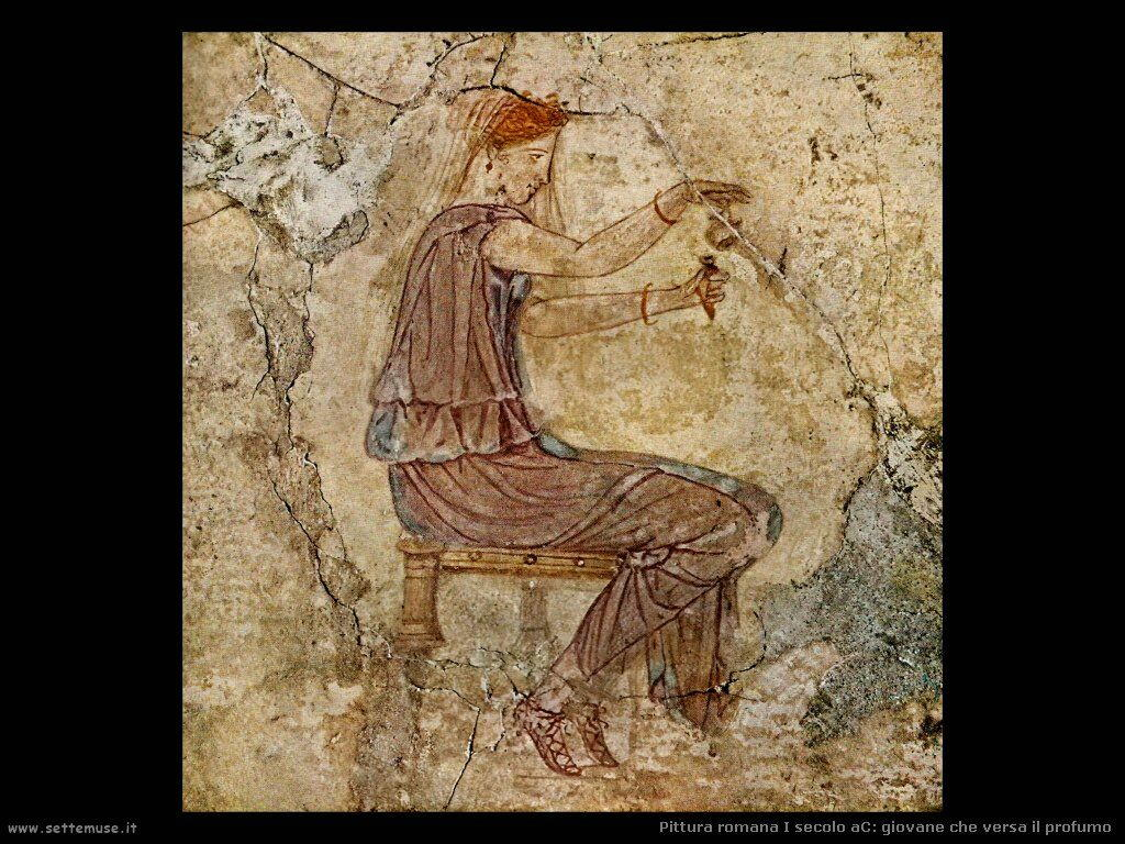 arte impero romano giovane che versa profumo