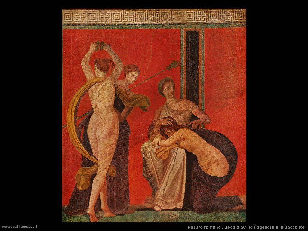 arte impero romano la flagellata e la baccante
