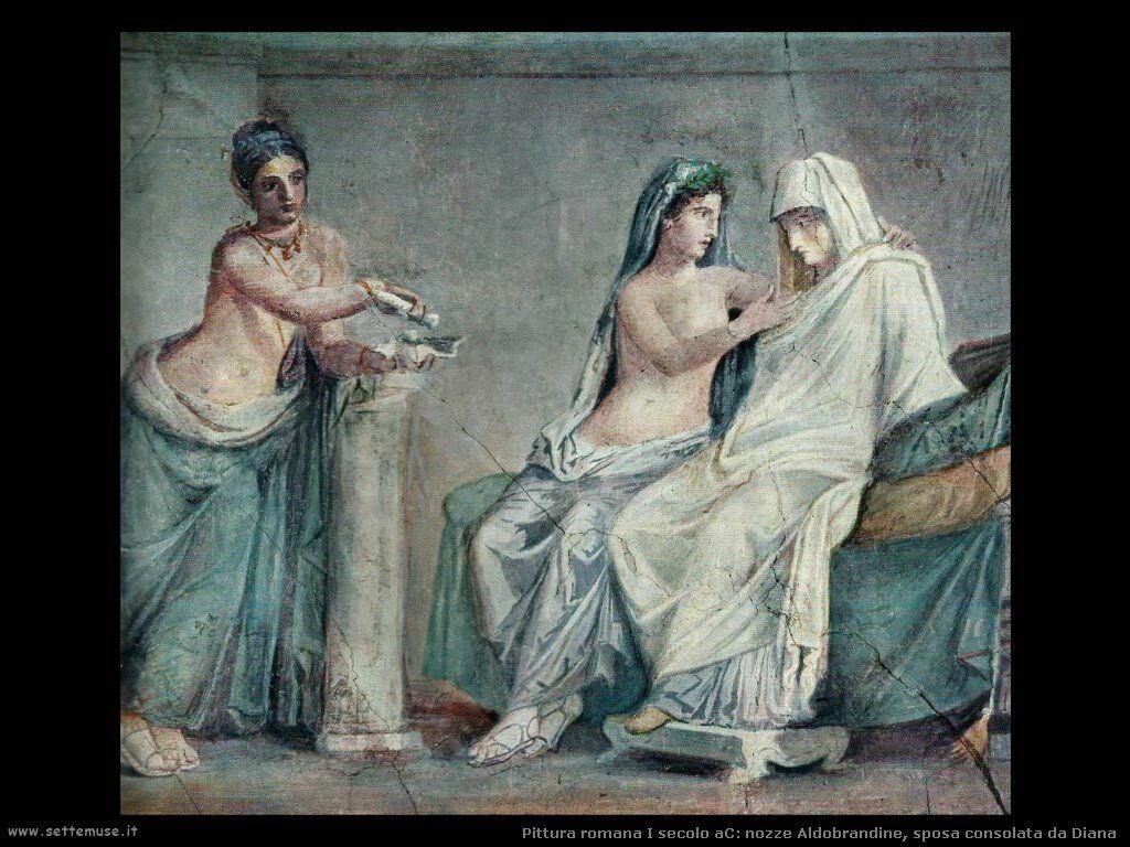 arte impero romano nozze aldobrandine la sposa
