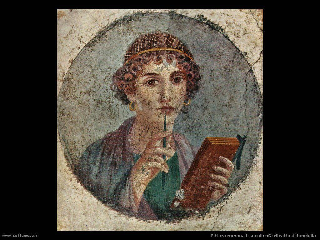 arte impero romano ritratto di fanciulla