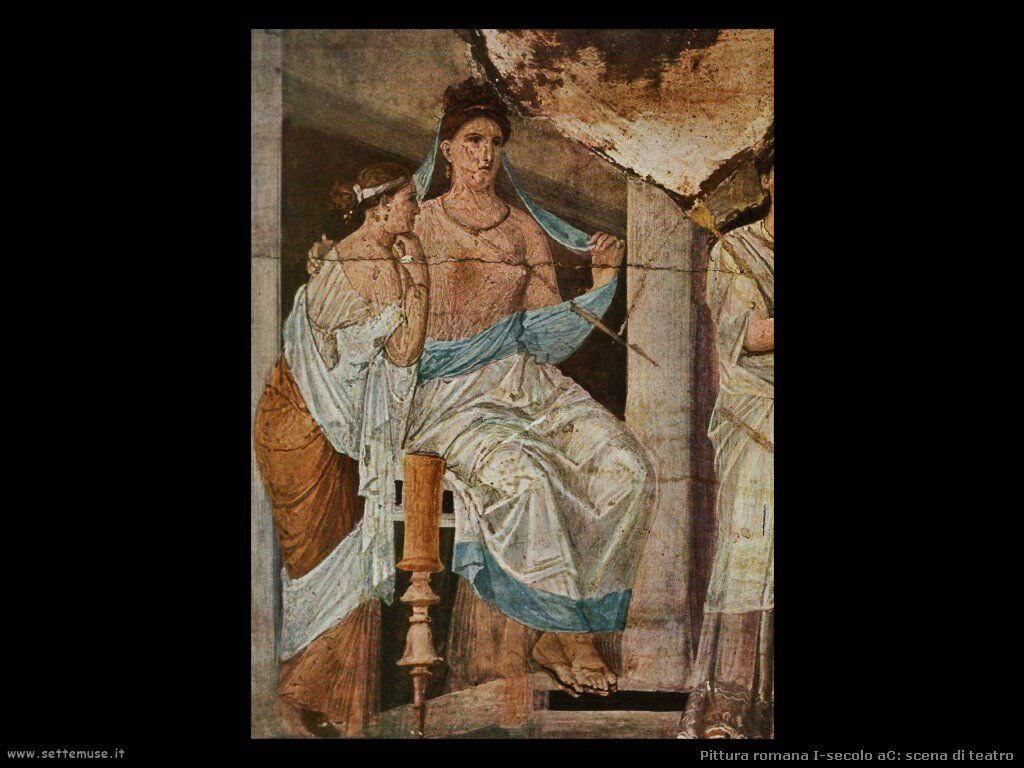 arte impero romano scena di teatro