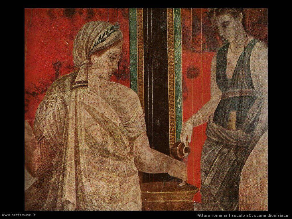 arte impero romano scena dionisiaca