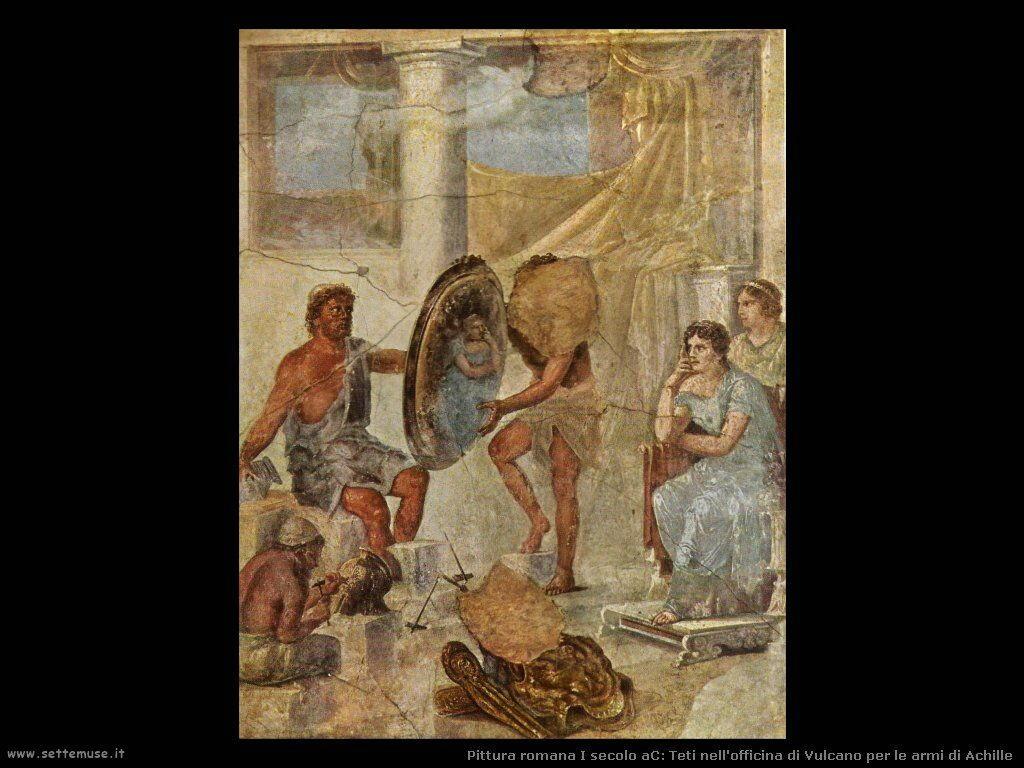 arte impero romano teti nell officina di vulcano
