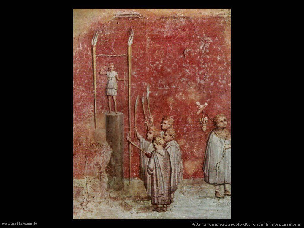arte impero romano fanciulli in processione