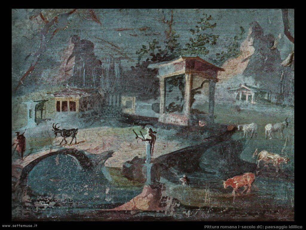 arte impero romano paesaggio idillico