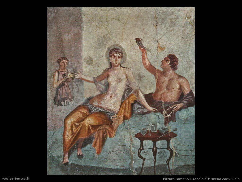 arte impero romano scena conviviale