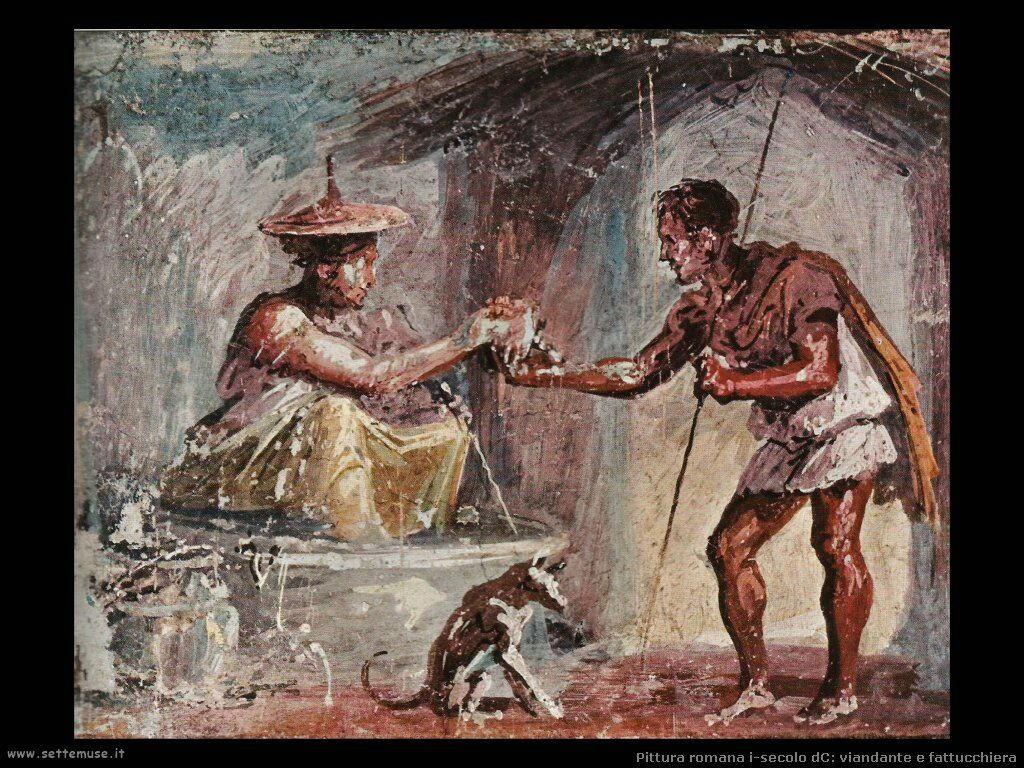 arte impero romano viandante e fattucchiera