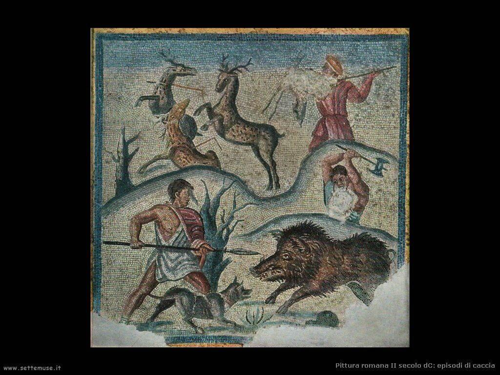 arte impero romano mosaico episodi caccia