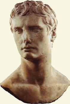 Busto in marmo di Ottaviano